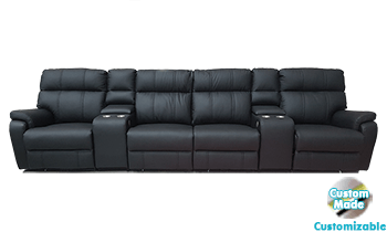 Accent Theatre Lounge in 100% Leather