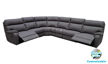 Denver 6 King Seat Corner Modular Lounge in Fabric