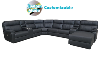 Accent Modular Lounge in 100% Leather
