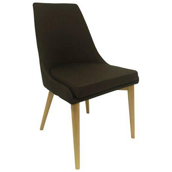 Archie Upholstered Dining Chair in Brown