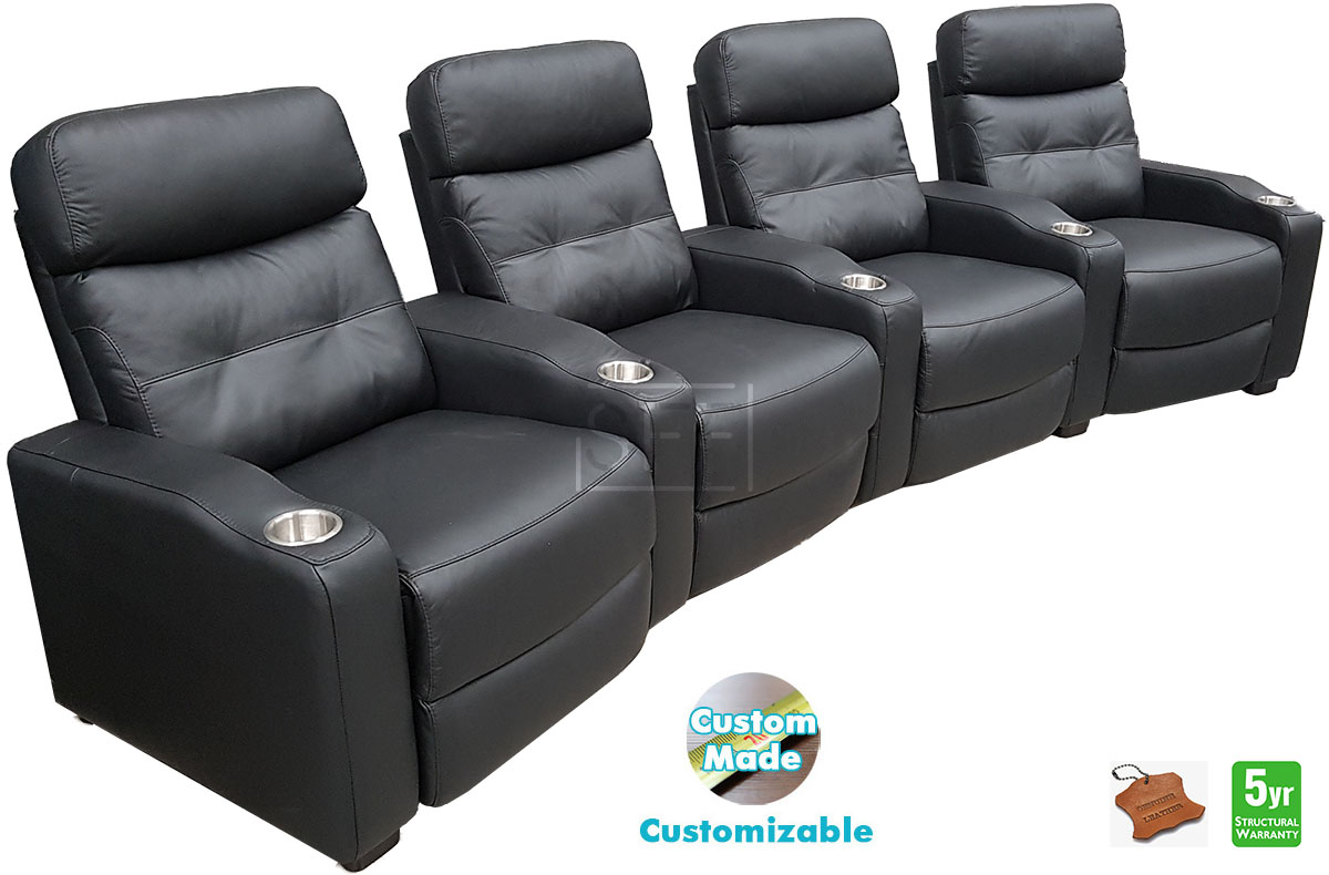 Arena Curved Theatre Lounge With Electric Recliners In