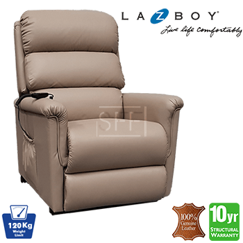 Lazboy Ascot Electric Lift Chair in 100% Leather