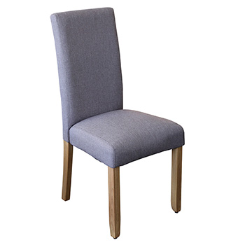 Ashton Upholstered Dining Chair in Light Grey Fabric