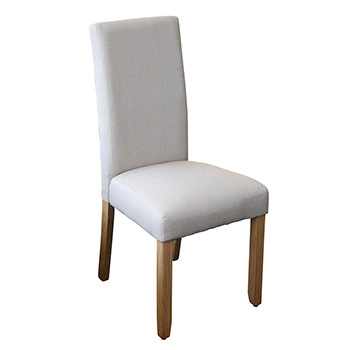 Ashton Upholstered Dining Chair in Beige Fabric