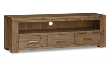 Ashton 3 Drawer Hardwood TV Unit