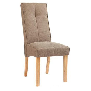Attic Upholstered Dining Chair in Brown Fabric