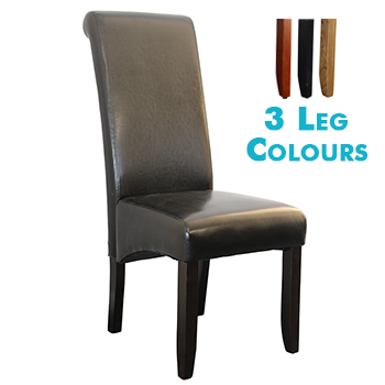 Avalon Upholstered Dining Chair in Black Leatherette