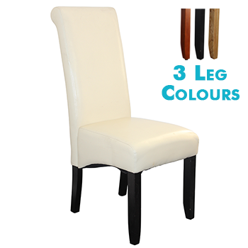 Avalon Upholstered Dining Chair in Ivory Leatherette
