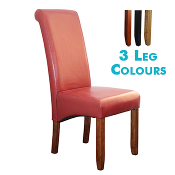 Avalon Upholstered Dining Chair in Red Leatherette