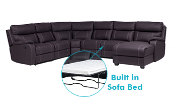 Balmoral Corner Modular with Sofa Bed, End Recliner & Chaise