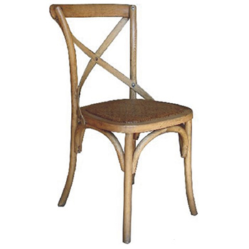 Barista (Oak) Hardwood Dining Chair with Rattan Seat