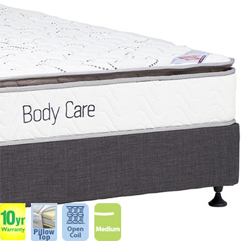 Body Care with Pillow Top Queen Mattress and Base