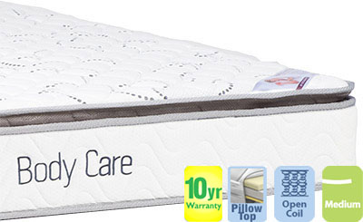 Body Care King Single Mattress with Pillow Top