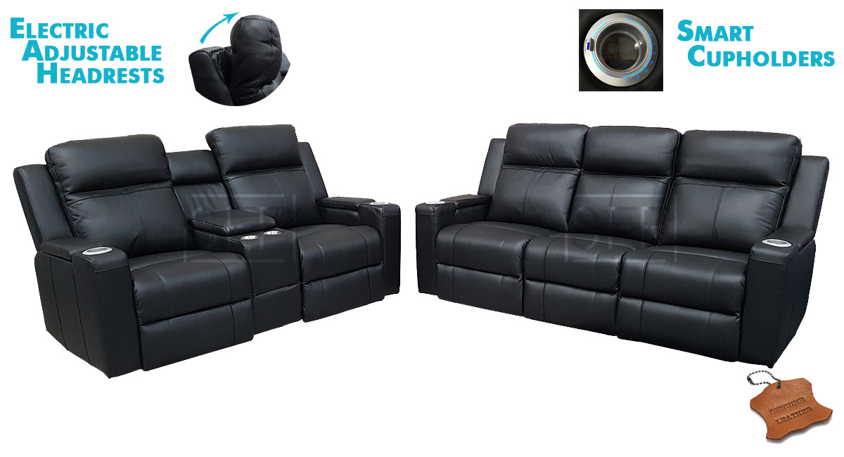Cameo Theatre Lounge With Electric Recliners Amp Headrests