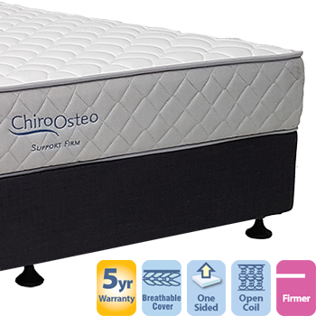 Chiro Support Firm Double Mattress and Base