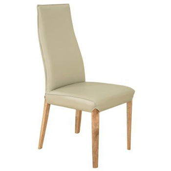 Clara Dining Chair in Silver Leatherette