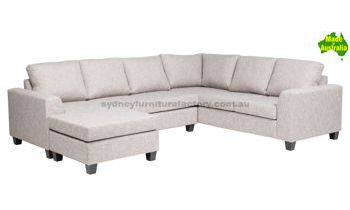 "Clifton Corner Modular with Double 4"" Inch Inner Spring Sofa Bed"