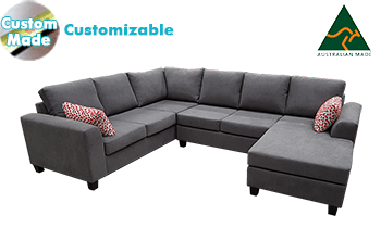 Clifton Corner Modular with Chaise in Fabric