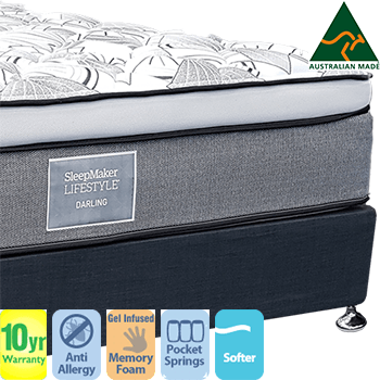 Sleepmaker Lifestyle Darling Cloud Top Double Mattress and Base