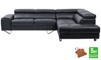 Delta Chaise Lounge in 100% Leather