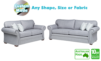 Dover Fabric Sofa Pair