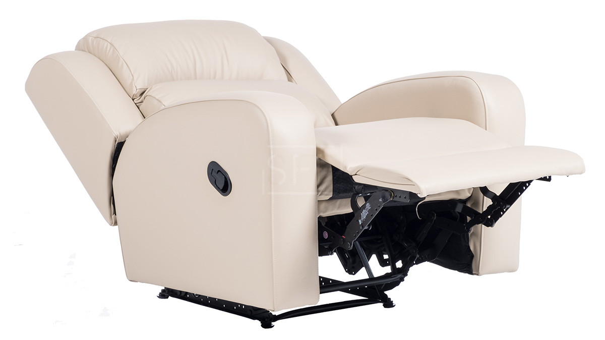 Eden Recliner Chair in Full Leather, Sydney Furniture Factory
