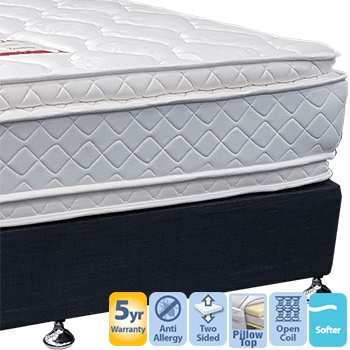 Embassy with Double Pillow Top Queen Mattress and Base
