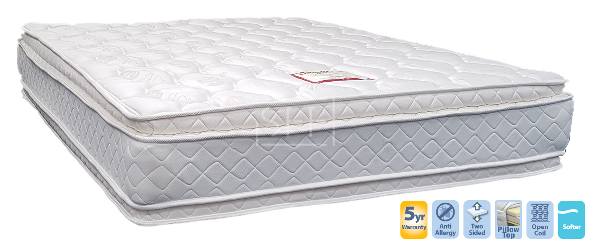 Embassy Queen Mattress With Double Pillow Top Sydney Furniture Factory