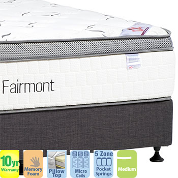Fairmont Luxury Medium King Ensemble with Pillow Top