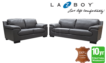 Lazboy Florence 3 Seater + 2 Seater Sofa Set in 100% Leather
