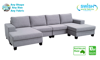 Geelong Double Chaise Lounge in Fabric