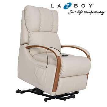 Lazboy Harbor Town Electric Lift Chair in 100% Leather