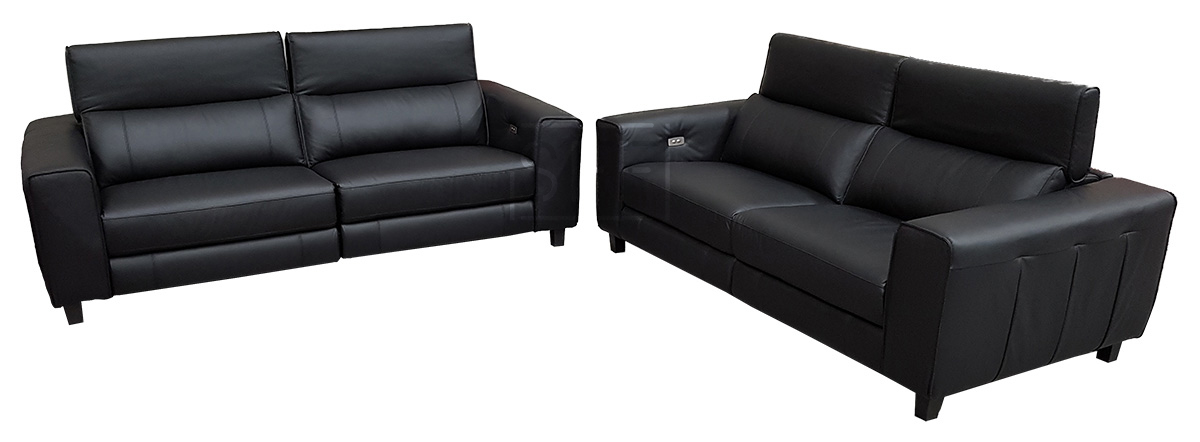 Keira Sofas With Electric Recliners In 100 Leather