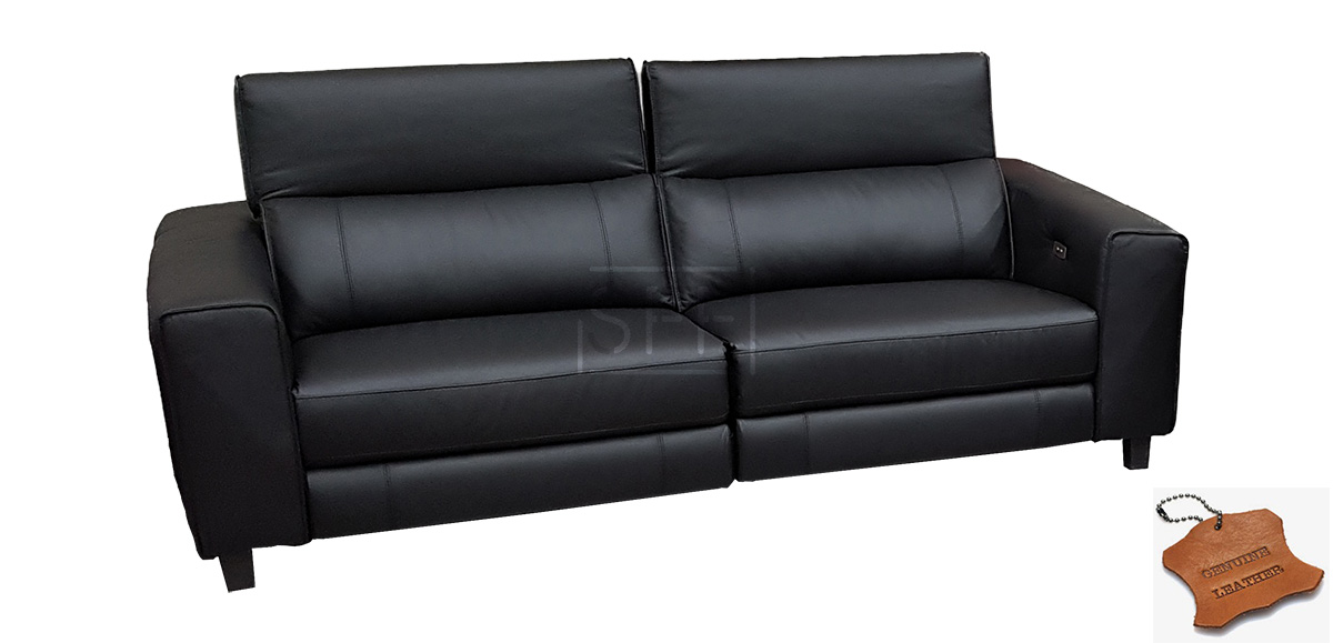 Keira Sofa With Electric Recliners In 100 Leather Sydney