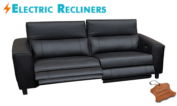 Keira Sofa with Electric Recliners in 100% Leather