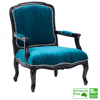 Louis XV Accent Chair in Black