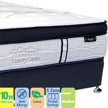 Luxury Latex Medium Queen Mattress and Base