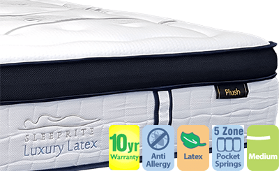 Luxury Latex Queen Mattress with Pillow Top