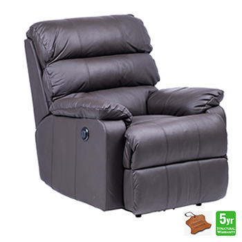 Mansfield Electric Recliner Chair in 100% Leather