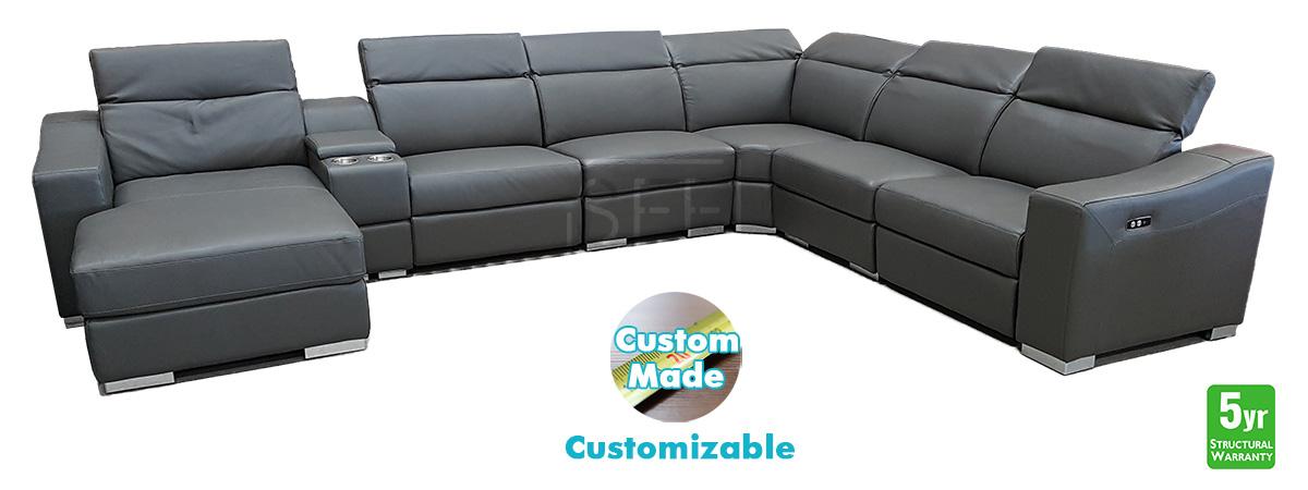 Milan Modular Lounge In 100 Leather Sydney Furniture Factory