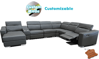 Domino Modular Lounge in 100% Leather