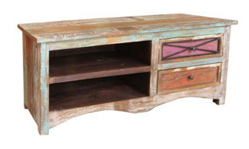 Multi 2 Drawer Recycled Timber TV Unit