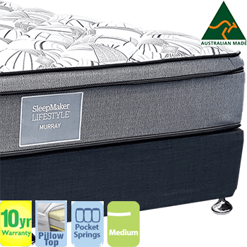 Sleepmaker Lifestyle Murray Medium Queen Mattress and Base
