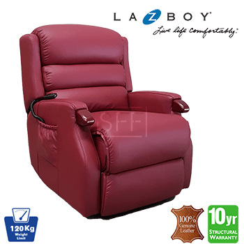 Lazboy Napier Electric Lift Chair in 100% Leather