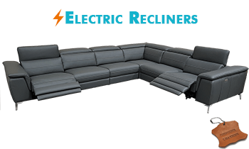 Neo Corner Modular with Electric Recliners in 100% Leather