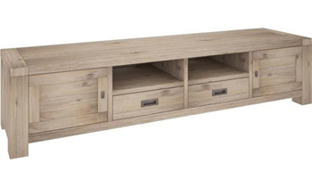 Oyster Bay 2 Door & 2 Drawer Hardwood TV Unit