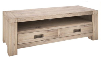 Oyster Bay 2 Drawer Hardwood TV Unit
