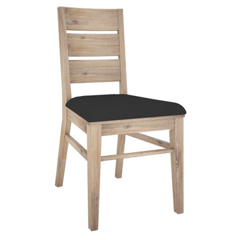 Oyster Bay Hardwood Dining Chair with Leatherette Seat