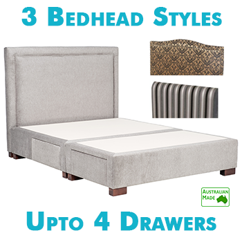 Upholstered Bedhead with Drawers