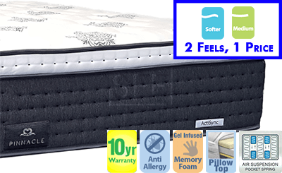 Pinnacle Queen Mattress with Pillow Top - Available in 2 Feels